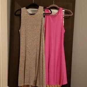 2  Jersey knit sundresses